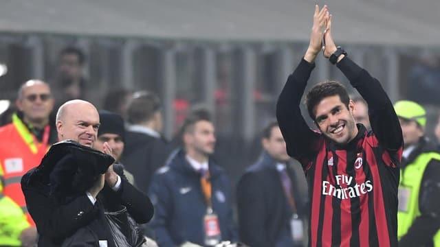 Kaka im AC-Milan-Shirt.