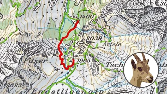 Karte von Wanderung