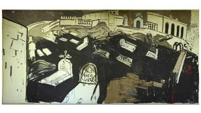 Wandbild «Friedhof vom Almuñécar» von Varlin.