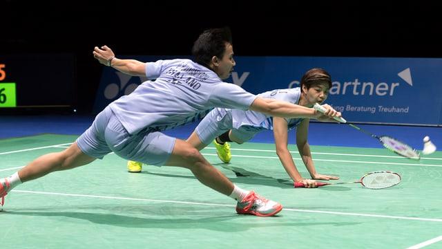 Badminton-Spieler.