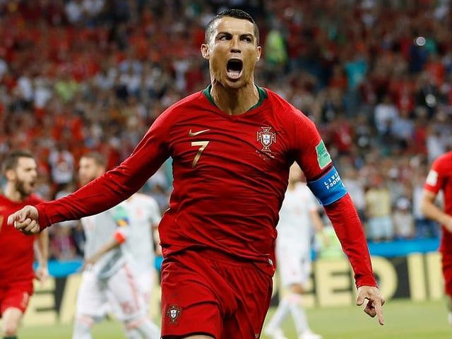 Cristiano Ronaldo jubelt nach Tor