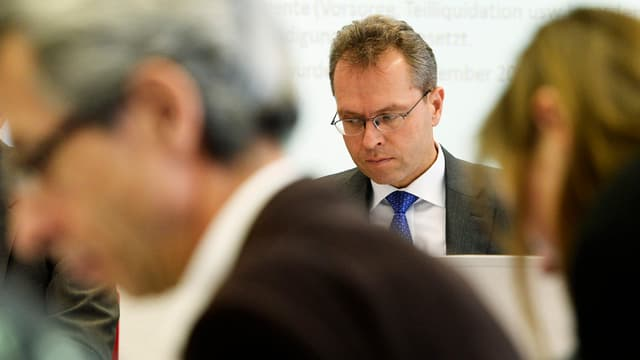 BVK-CEO Thomas Schönbächler an der Medienkonferenz