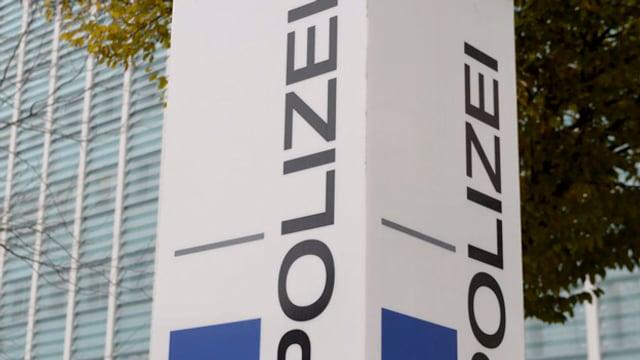 Orientierungstafel Polizei