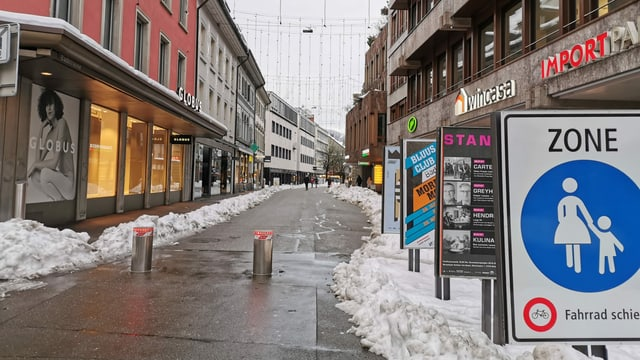 Leere Badener Altstadt.