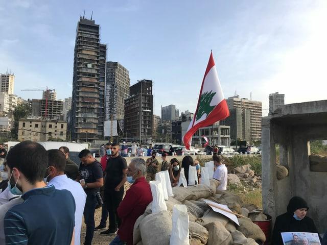 Mahnwache in Beirut