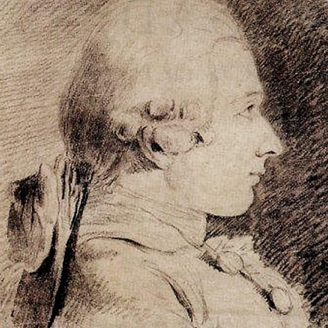 Porträt eines jüngeren Mannes mit Perücke.