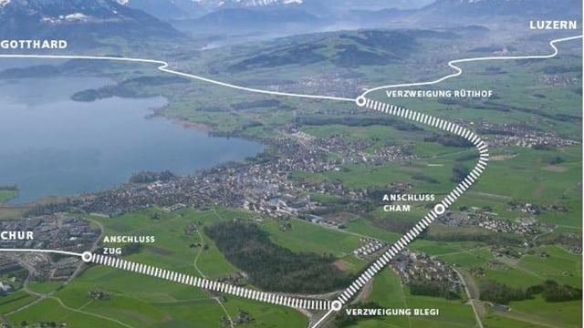 Karte mit Autobahnausbau-Projekt