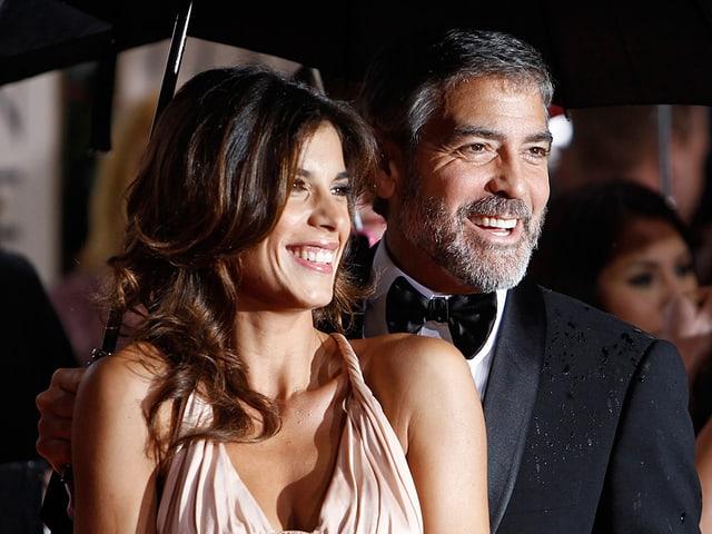 Elisabetta Canalis mit George Clooney