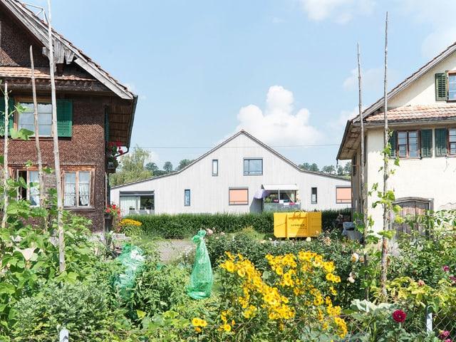 Alte neben neuen Häusern: Ortskern des Luzerner Städtchens Sempach.