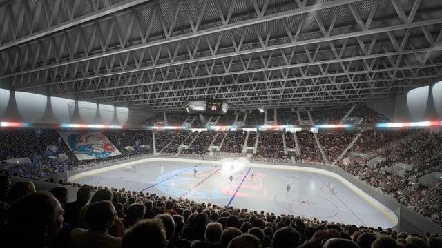 Visualisierung des geplanten Stadions in Zürich-Altstetten.