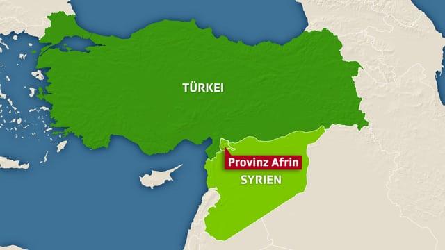 Karte von Afrin