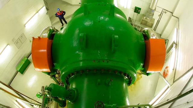 Ina staziun d'energia idraulica dal concern «Stratkraft»
