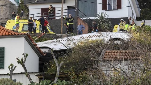 Abgestürzter Bus.