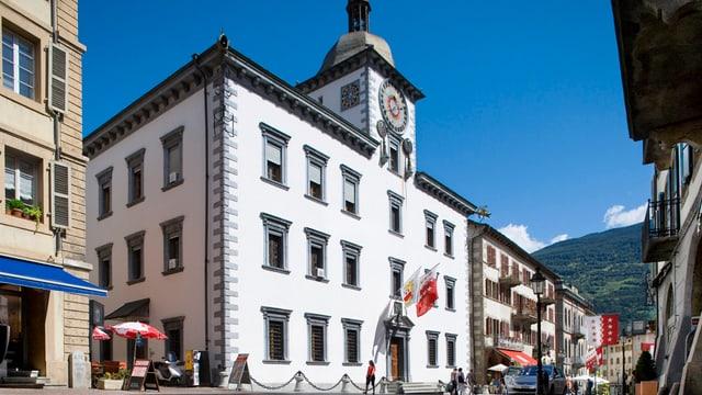 Das Rathaus in Sitten, Sitz des Walliser Kantonsparlaments.