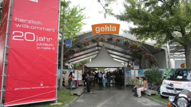 L'entrada da l'exposiziun Gehla l'onn 2013.