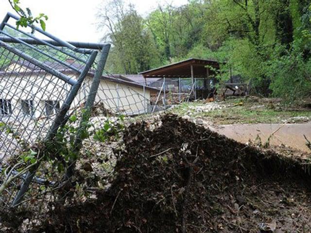 Das Tierheim in Schaffhausen wurde vom Unwetter am 2. Mai 2013 besonders stark getroffen.