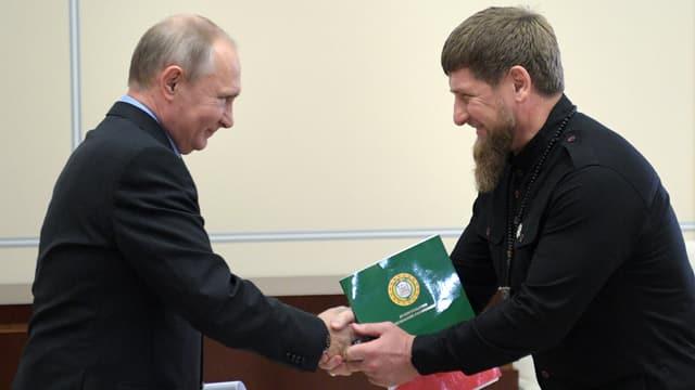 Putin und Kadyrow.