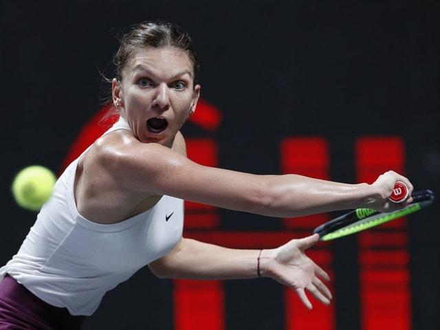 Simona Halep setzte sich gegen US-Open-Siegerin Bianca Andresscu durch.