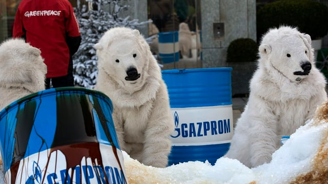 Greenpeace-Aktion gegen Gazprom
