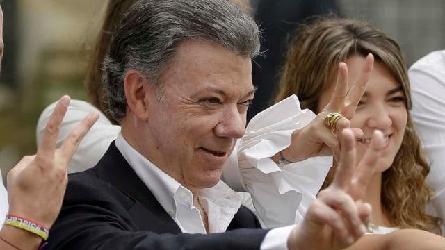 Entstammt einer der reichsten und einflussreichsten Familien des Landes: Juan Manuel Santos.