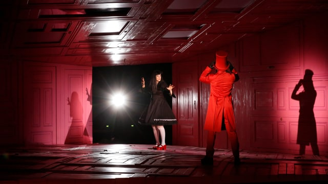 Bühne, Judith und Blaubart, Scheinwerfer.