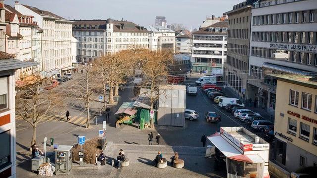 Der St. Galler Marktplatz.