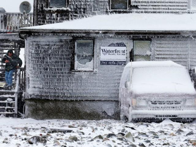 Vereistes Haus in Marshfield, Massachusetts