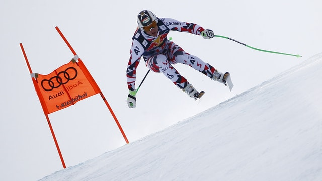 Hannes Reichelt durant il trenament a Garmisch.