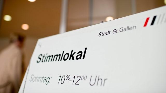 Plakat Stimmlokal