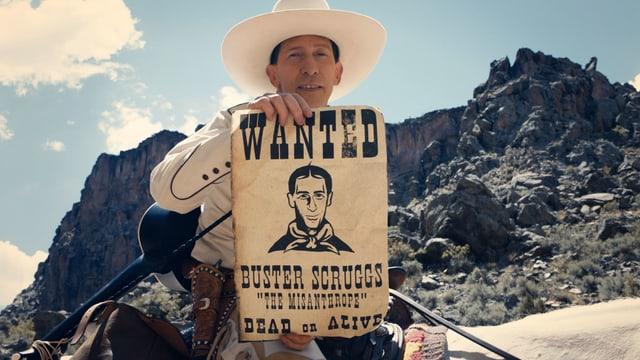 Filmstil aus dem Film «The Ballad of Buster Scruggs» der Coen-Brüder, welcher in Venedig gezeigt wird.