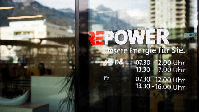 isch da vaider da l'entrada dal concern Repower a Landquart