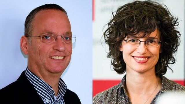 Andri Franziscus e Stefanie Habluetzel ils moderaturs da la saira.