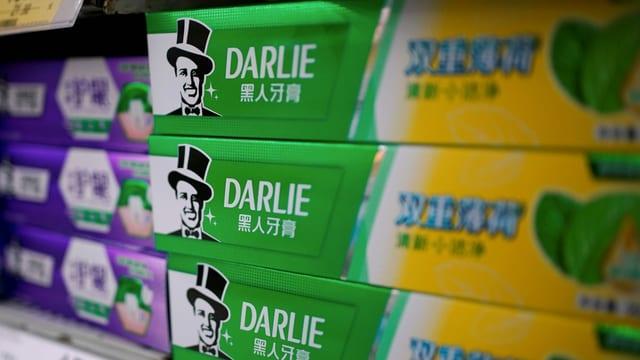 Darlie-Zahnpasta in Schanghaier Supermarkt.