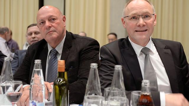 Giezendanner und Knecht am SVP-Parteitag