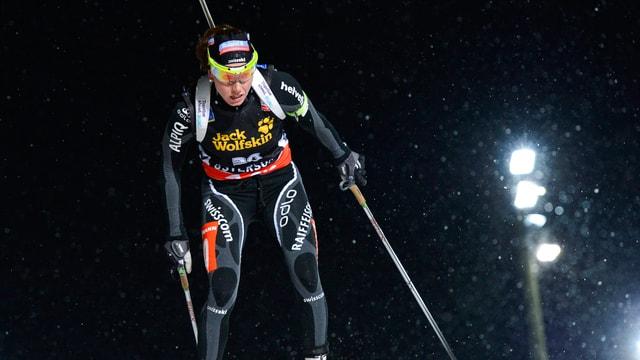 Selina Gasparin wäre in Östersund beinahe auf das Podest gelaufen.