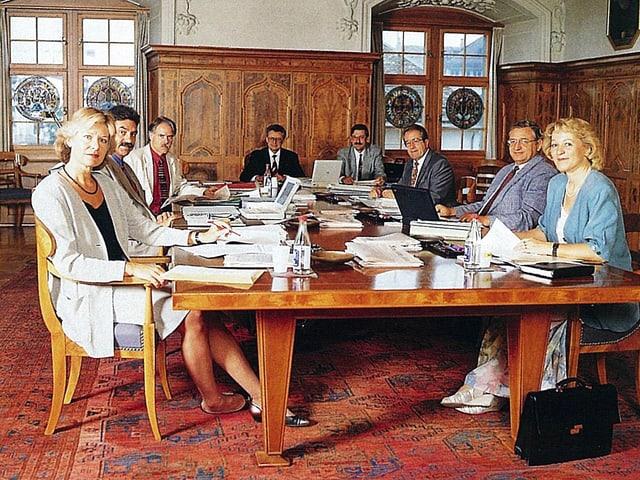 Portrait des Zürcher Regierungsrats aus dem Jahr 1995.
