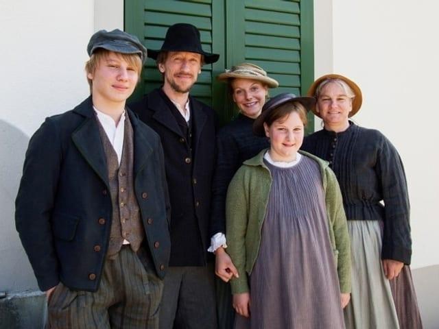 Porträt der Familie Büchi.