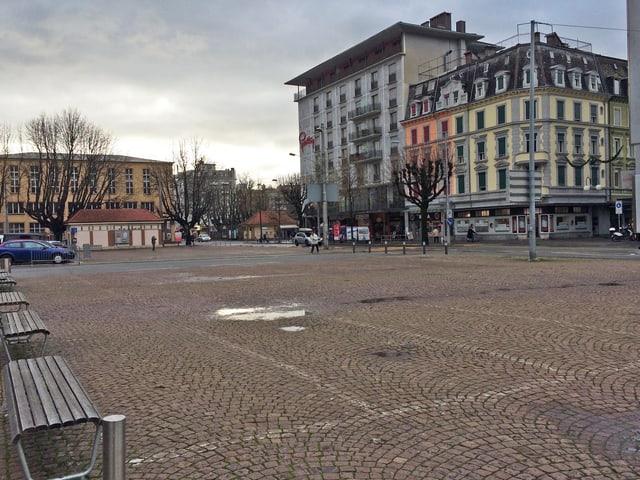 Der Bieler Neumarktplatz.