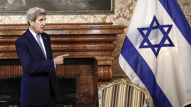 Kerry mussa cul det en direcziun dad ina badniera israeliana.