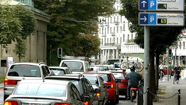 Stau in Luzern