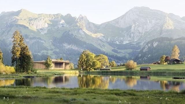 Haus in Berglandschaft