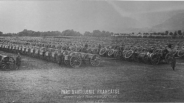 Ansichtskarte mit Artillerie-Depot