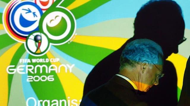 Bild von Franz Beckenbauer mit grossem Schatten