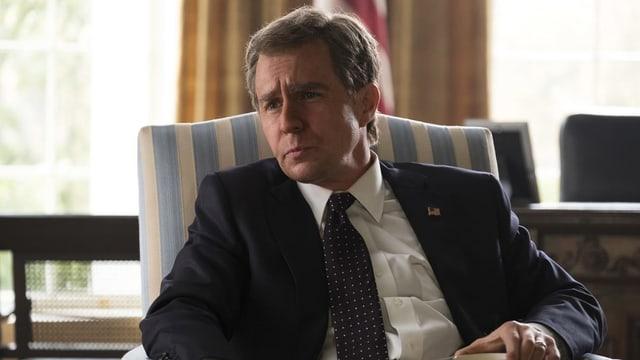 Ein Bild aus dem Film, das George W. Bush zeigt.