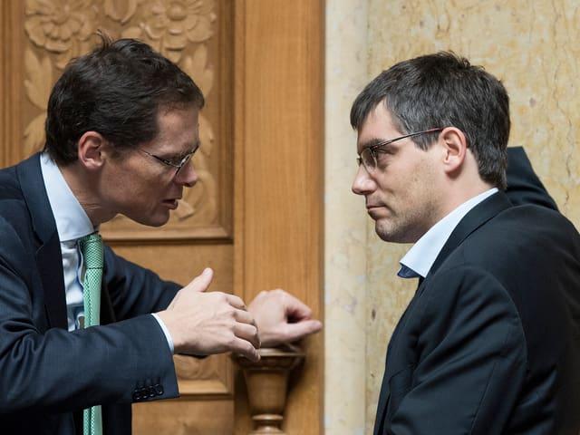 Köppel und Nordmann im Gespräch