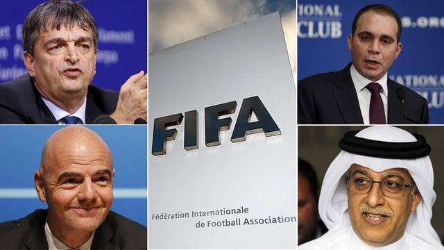 Die Kandidaten fürs Fifa-Präsidium