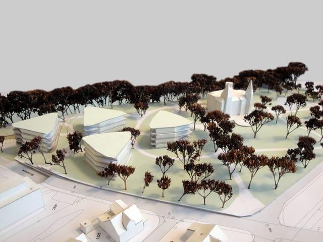 Modell Wohnüberbauung