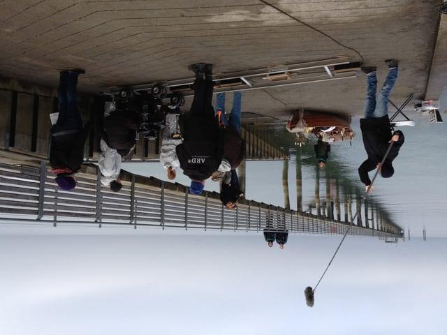 Drehort Altnau: Hier wird die erste Szene des letzten Tatorts vom Bodensee gedreht.
