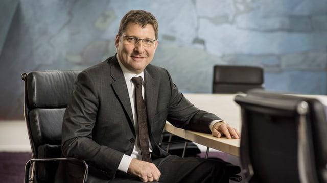 Frohgemut: Rieter-CEO Norbert Klapper.