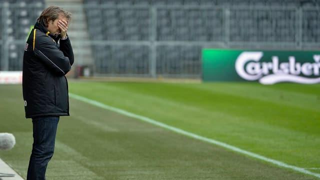 Wie weiter? YB-Trainer Martin Rueda nach der Niederlage gegen Genf-Servette